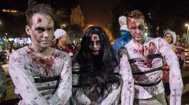 Ilustrasi zombie atau mayat hidup