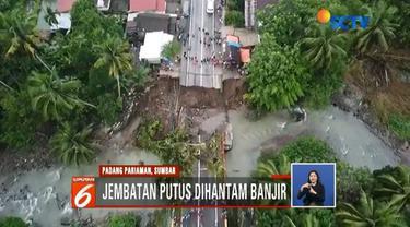 Jalur lintas Kota Padang menuju Bukittinggi belum bisa dilalui kendaraan pasca putusnya Jembatan Panyaram di kawasan tersebut. Sementara Jembatan putus mengganggu aktivitas warga.