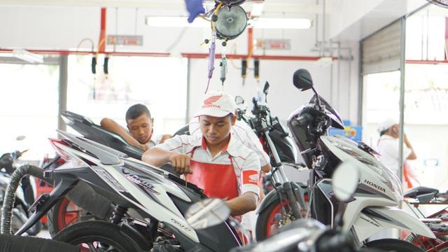 Servis Sepeda Motor Honda gratis