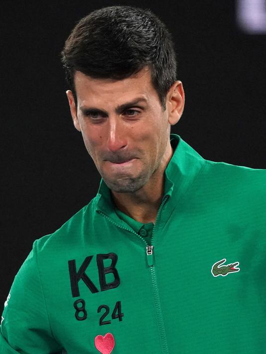 Foto Emosionalnya Novak Djokovic Saat Kenang Kobe Bryant Bola Liputan6 Com