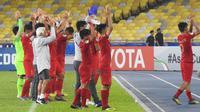 Timnas India U-16 vs Timnas Indonesia U-16 di Piala AFC U-16 2018. (PSSI)