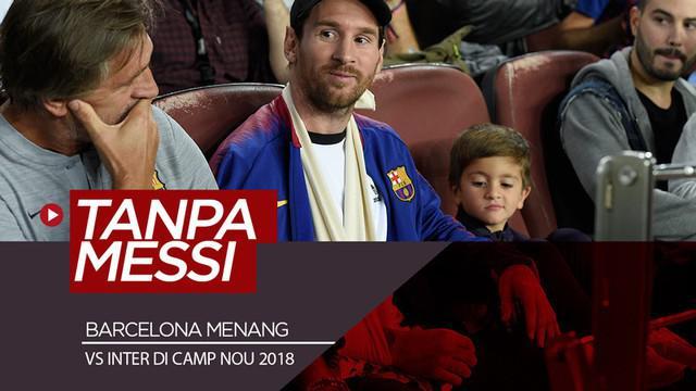 Berita video kilas balik pertemuan terakhir kali Barcelona melawan Inter Milan di Camp Nou dalam ajang Liga Champions yaitu pada Oktober 2018.