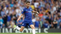 3. Jorginho - Jorginho merupakan aset berharga yang dimiliki oleh Chelsea. Begitu padunya taktik sang menejer, Maurizio Sarri menjadi kunci dari kesuksesan pemain timnas Italia tersebut. (AFP/Ben Stansall)