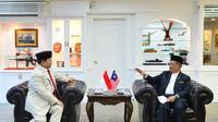 Menteri Pertahanan Prabowo Subianto telah bertemu dengan Menteri Pertahanan Malaysia, Mohammad Bin Sabu pada Kamis (15/11/2019). (Foto: Istimewa)
