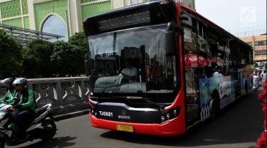 Didemo Sopir Angkot, Bus Transjakarta Tanah Abang Explorer Pindah Rute