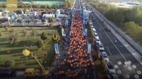 Maraton di Gansu, China. Dok: CGTN
