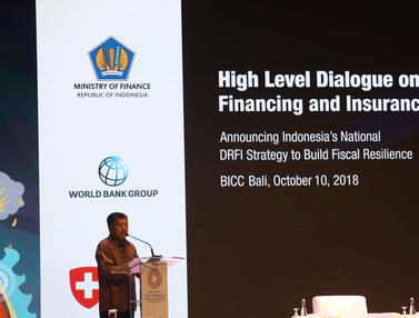 Jusuf Kalla Paparkan Pentingnya Asuransi Bencana di IMF-WB 2018