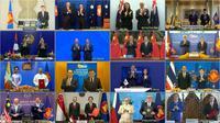 Pertemuan virtual antara pemimpin negara yang terlibat dalam RCEP. (Dok: Vietnam News Agency)