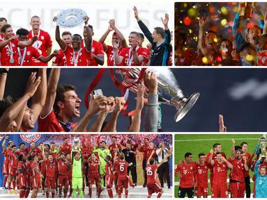 Bayern Munchen sukses mewujudkan misi meraih quintuple alias lima gelar tahun ini dengan yang terbaru menjuarai Piala Super Jerman 2020.