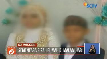 Dianggap tidak sah secara hukum negara, remaja yang telah menikah dini di Tapin, Kalsel, dilarang tinggal di rumah bersamaan pada malam hari.