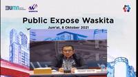 Paparan publik PT Waskita Karya Tbk, Jumat (8/10/2021) (Dok: tangkapan layar/Pipit Ramadhani)