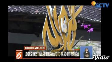 Kampung Penanggungan, Bondowoso, Jawa Timur, menjadi kampung kaligrafi yang cocok untuk berwisata budaya Islam dan berswafoto.