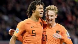 Pemain asal Belanda ini didatangkan Manchester City dari Bournemouth dengan nilai transfer mencapai 45 juta euro. (AFP/Koen Van Weel/ANP)