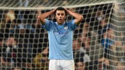 1. Rodrigo - Rodrigo adalah salah satu pemain yang diperkirakan bakal pergi pada musim panas ini. Gelandang asal Spanyol ini mungkin akan mengikuti Pep Guardiola bila hengkang dari Manchester City. (AFP/Oli Scarff)