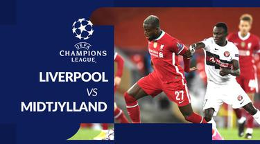 Berita motion grafis statistik Liverpool vs Midtjylland dalam laga matchday 2 Grup D Liga Champions 2020-2021 yang dihelat di Anfield, Rabu (28/10/2020) dini hari WIB.