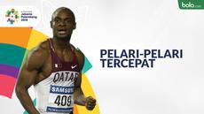 Berita video rekor pelari-pelari tercepat di Asian Games nomor 100 m hingga 400 m.