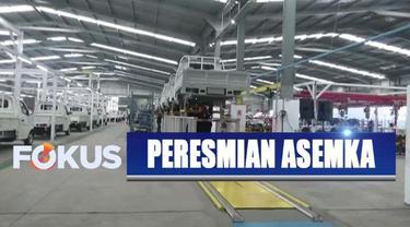 Presiden Jokowi meresmikan pabrik mobil Esemka seluas 115 meter persegi di Boyolali, Jawa Tengah.
