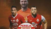 Piala Menpora - Persija Jakarta, Rohit Chand, Marco Motta, Marko Simic (Bola.com/Adreanus Titus)