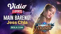 Jess Chla Akan Hadir Lagi di Vidio Esports Bermain Mobile Legends! sumberfoto: Vidio