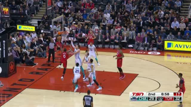 Berita video game recap NBA 2017-2018 antara Toronto Raptors melawan Charlotte Hornets dengan skor 103-98.