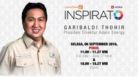 Saksikan Livestreaming INSPIRATO dengan Presdir Adaro Energy