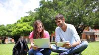 Ilustrasi mahasiswa belajar di kampus (iStockphoto)