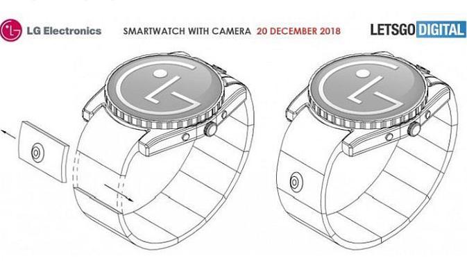 Paten smartwatch LG dengan kamera (screenshot via GSM Arena)
