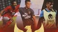 Timnas Indonesia - Ramai Rumakiek, Miftah Anwar Sani, Ricky Kambuaya (Bola.com/Adreanus Titus)