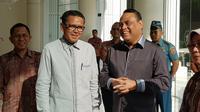 MenPAN-RB Syafruddin bersama Gubernur Sulawesi Selatan Nurdin Abdullah di Kantor Wakil Presiden. (Istimewa)