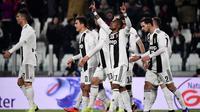 Juventus meraih kemenangan tiga gol tanpa balas Chievo pada laga pekan ke-20 Serie A, di Allianz Stadium, Senin (21/1/2019) malam waktu setempat. (Marco Bertorello)