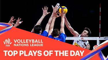 Berita Video, Aksi-Aksi yang Tercipta di Pertandingan Volleyball Nations League Hari Ini