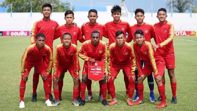 Timnas Indonesia U-15 di Piala AFF U-15 2019. (dok. PSSI)
