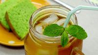 Ilustrasi es teh lemon mint./Copyright pixabay.com