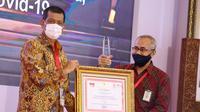 RSD Wisma Atlet mendapat penghargaan Inovasi Pelayanan Publik Penanganan Covid-19 (Foto: Istimewa)