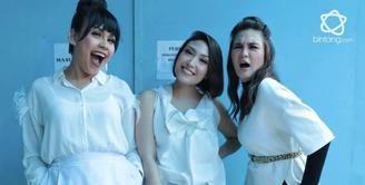 Luna Maya, Melaney Ricardo dan Ayu Dewi dalam geng Menteri Ceria.