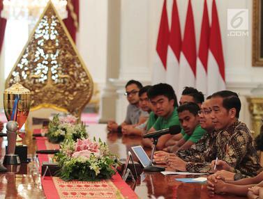 Jokowi Bertemu Timnas U-16