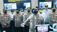Wakil Kepala Kepolisian Republik Indonesia, Komjen Gatot Eddy Pramono mengecek kesiapan pengamanan Polda Banten menjelang libur panjang. (Dok: Divhumas Mabes Polri)