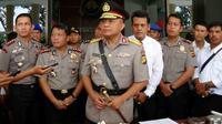Kapolda Jambi, Brigjen Pol Yazid Fanani saat memberikan keterangan di depan pers. (Bangun Santoso/Liputan6.com)