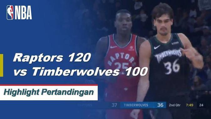 Cuplikan Hasil Pertandingan NBA : Raptors 120 Vs