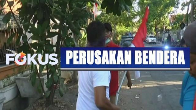 Polisi periksa 43 mahasiswa asal Papua terkait isu perusakan bendera merah putih di depan asrama di Surabaya, Jawa Timur.