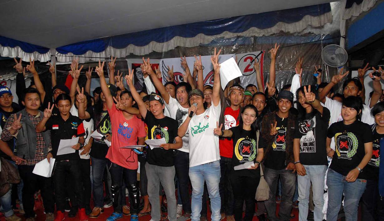 Jokowi-JK Didukung Slankers se-Indonesia - Foto Liputan6.com