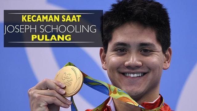 Kecaman Saat Pahlawan Singapura di Olimpiade Rio 2016 Pulang