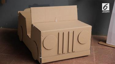 Mainan anak berbahan kardus ini diklaim aman dan ramah lingkungan karena menggunakan kardus daur ulang.