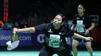 Ganda putri Jaya Raya, Anggia Shitta Awanda/Shela Devi Aulia, saat bertanding pada Djarum Super Badminton 2019 di