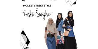 Intip Koleksi Modest Street Style Zaskia Sungkar