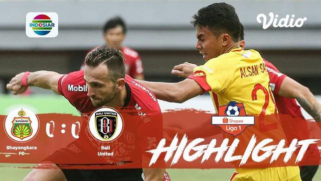 Pertandingan #ShopeeLiga1, antara #BhayangkaraFC vs #BaliUnited yang berlangsung di Stadion Patriot, Bekasi, Jawa Barat pada hari ...