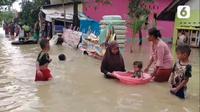 Banjir yang menggenangi ratusan rumah di Kabupaten Cirebon. (tangkapan layar / liputan6.com)