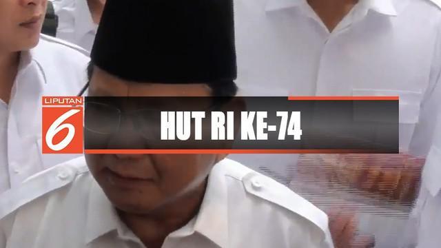 Ratusan kader, relawan, dan petinggi partai hadir dalam upacara tersebut. Ketua Umum Prabowo Subianto menjadi inspektur upacara.