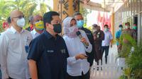 Menteri BUMN Erick Thohir dalam kunjungan kerjanya di Lampung, pada Sabtu (15/10).