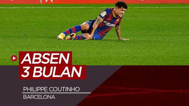 Berita video Striker Barcelona, Philippe Coutinho harus absen selama 3 bulan usai mengalami cedera lutut.